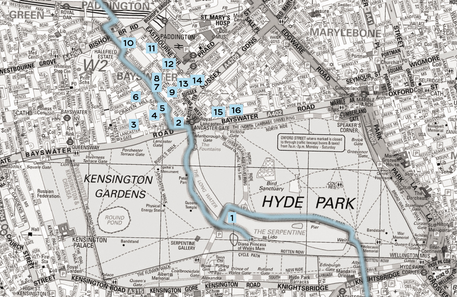 Tributaries to the Thames in the London Basin