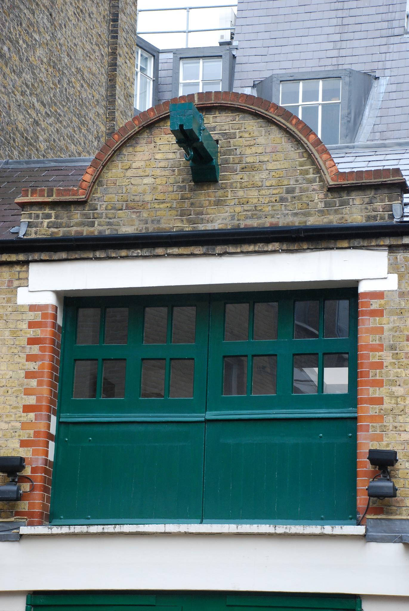 Cross Key Close Winch bracket over first floor hayloft doors